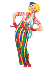 Striped Clown Overalls Ad Lg