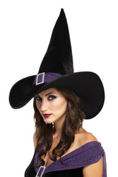 Elegant Witch Hat Black Purple