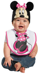 Pink Minnie Mouse Bib Hat