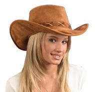 Hat Cowboy Suede-look