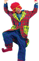 Plaid Pickles Adult Clown Lg