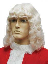 Santa Wig 004 White