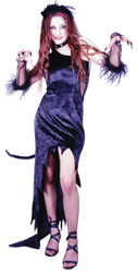 Cat Magic Blck Dress Med Lg