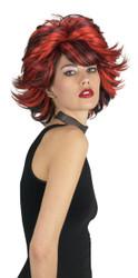 Choppy Wig Red Black