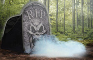 Tombstone Macabre Foggy