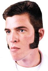 Sideburns Dk Brown Human Hair