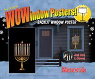 Menorah Window Poster