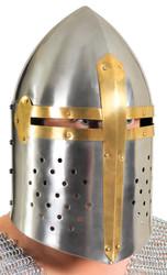 Helmet Full Face Metal Armor
