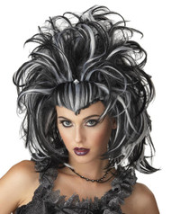 Wig Evil Sorceress Black White