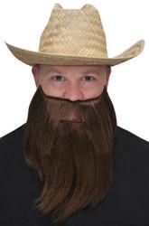 Full Beard And Mustache Black