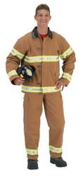 Fire Fightr Adult Tan W Helmet