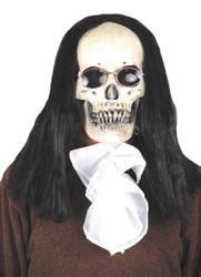 Goth Skull Dlx Mask W Hair