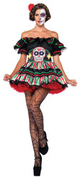 Day Of Dead Doll Adult Xl