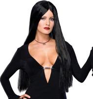 Addams Family Dlx Morticia Wig