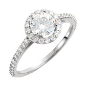 Charles & Colvard™ Moissanite and Diamond Ring