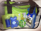 Includes: Stadium Bag, Poop Bags, Paw Balm, Handi Drink Water Dish for Dogs
