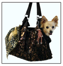 Black Onyx Runaround Pet Shoulder Tote