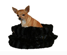 Black Reversible Snuggle Bug Bed Tote Car Seat