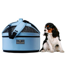 Sky Blue Sleepypod Pet Bed Carrier Car Safety Seat