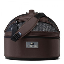 Chocolate Brown Sleepypod Pet Bed Carrier Car Safety Seat