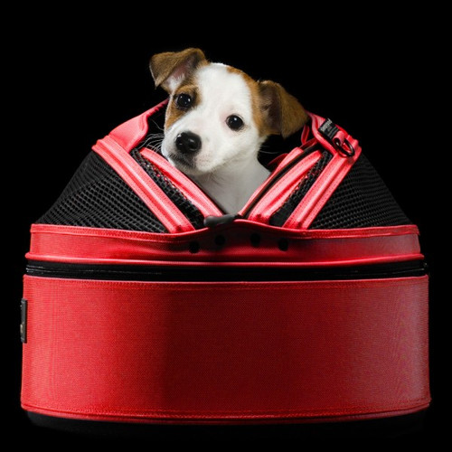 Strawberry Red Sleepypod Pet Bed Carrier Car Safety Seat