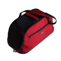 Sleepypod Air airline approved pet carrier in red with detachable shoulder strap