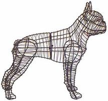 Boston Terrier Frame Topiary Dog