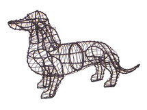 Dachshund Topiary Dog Sculpture