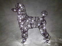 Poodle Topiary Dog Sculpture