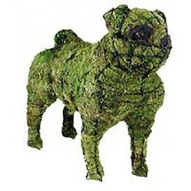 Pug Topiary Dog Sculpture