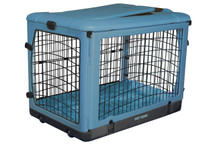 Blue Deluxe Pet Crate