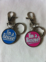 """I'm A Rescue!"" Collar/Harness ID Charm"