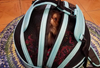 Robin Egg Blue Sleepypod Pet Bed Carrier showing top of dome