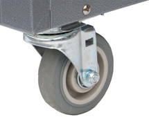 Wheels and brackets included