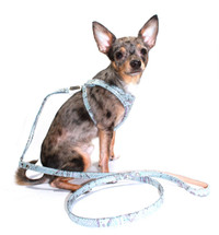 Firenze Crystal Blue Snake Dog Step-In Harness