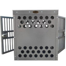 Front and back of crate will have solid panels with laser cut air vents as shown.