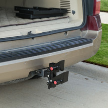 HitchSTEP™ PupSTEP® with steps stowed in the cargo area