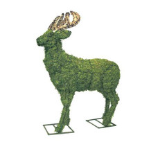 "52"" Mossed Deer Topiary"