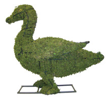 9 Inch Duckling Mossed Topiary is 9 inches tall and has realistic eyes.  Arrives as a pair of ducklings.