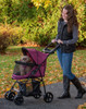 Happy Trails Lite Boysenberry No Zip Pet Stroller partially closed