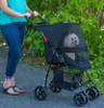 Happy Trails Lite Jaguar No Zip Pet Stroller fully closed