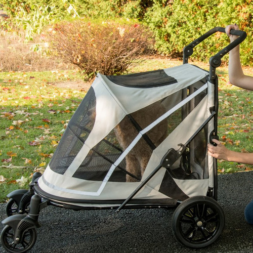 White No-Zip Expedition Pet Stroller