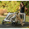 White No-Zip Expedition Pet Stroller has a large back door for easy loading