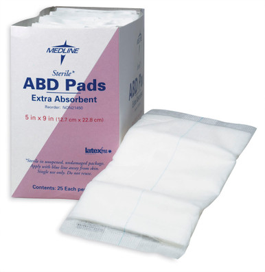 Sterile ABD Pads Extra Absorbent 18/bx