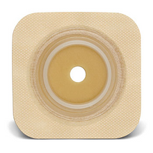 "SUR-FIT Natura Durahesive Skin Barrier with Flange,with tape collar (overall dimension 4"" x 4""), Tan collar 413166"