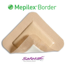 "Mepilex Border Self-Adherent Soft Silicone Foam Dressing 4""x4"", 295300"