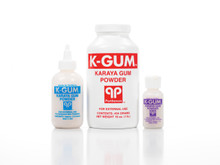 KGum karaya powder for excoriated peristomal skin.