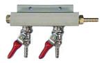 2 Valve Gas Manifold