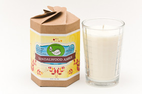 Sandalwood Amber 5 oz glass