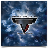 Taran Tactical Innovations Logo  Lightning Background